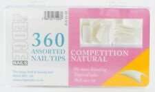THE EDGE BOX 360 COMPETITION NATURAL WELL-LESS NAIL TIPS acrylic uv gel