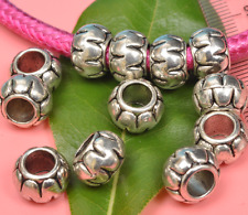 30pcs tibetan Silver big hole big Jewelry finding Making Spacer /Beads 11mm