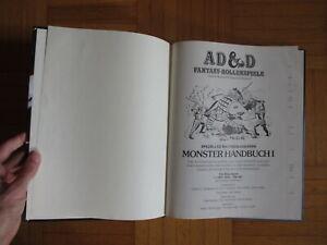 AD&D Monster Handbuch I - 1977 / 78 Fantasy Rollenspiele Advanced Dungeon Dragon