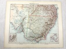 1907 Antique Map of Australia Port Phillip Melbourne Adelaide New South Wales