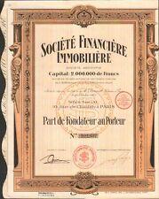 DECO => Société Financière IMMOBILIÈRE (P)