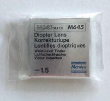 MAMIYA M645 / M645 Super -1,5 Diopter lens for Waist level finder Korrekturlupe