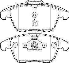 Front Brake Pads Ford Mondeo 1.8 TdCi Estate MK IV 07-13 125 155.1x66.4x2mm