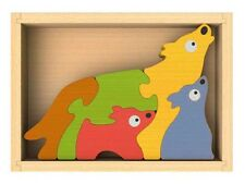 Wolf Family Wooden 3D Puzzle
