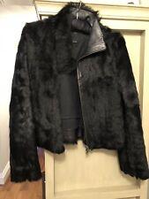 Genuine Joseph Black Fur Jacket