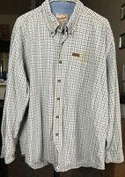 Woolrich Men's Plaid Flannel Shirt Long Sleeve Button Down Extra Large Cotton
