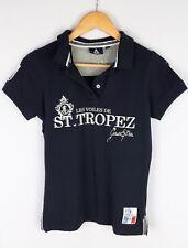 Gaastra Women Polo Shirt Casual Navy Blue Cotton Blend size M