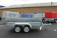 "Car trailer twin axle 8'7""x4'2"" 750kg+ mesh caged cage tipping tipper NEPTUN"
