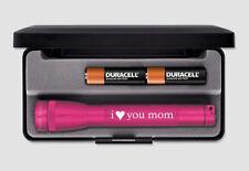 Maglite Mini Pink I LOVE YOU MOM M2ASHL  Mini Mag 2-Cell AA Mom Birth Day Gift