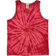 Colortone Spiral Tie Dye Tank Top Red