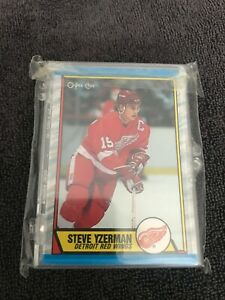 Lot of 18 O-PEE-CHEE NHL CARDS 1989 RED WINGS TEAM SET SEALED/NEVER OPENED