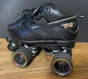 Women's Roller Skates Rock GT 50 Size 5 Black Sure Grip Pattinson Wheels Derby