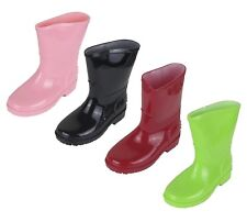 Children's Rain Boot Waterproof Rubber Shoes Solid Color Sizes 5-10 New