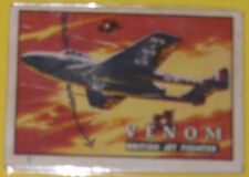 Venom British Jet Fighter #72 Trading Card Great Pic! See!