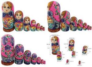 Beautiful Color Cute Little Girl Fairy Tale Handmade Wooden Russian...