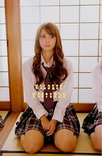 Sexy ASIAN GIRL PHOTO cute school girl uniform MINISKIRT Nozomi Sasaki HOT LEGS