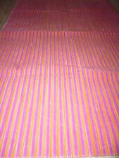 Tissu ameublement velours rose pop fluo rayures 65x97cm