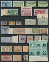 Lot Stamp Germany Revenue Weimar Reich Import Bayer Train Health MNG