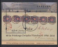 POLEN POLSKA - 2010 BLOCK 190 I MIT AUFDRUCK 60 JAHRE PHILATELISTENVERBAND gest