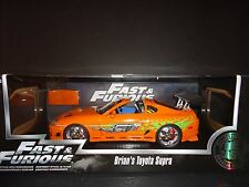 Jada Toyota Supra 1995 orange de Brian voiture FAST AND FURIOUS 1/18 97505