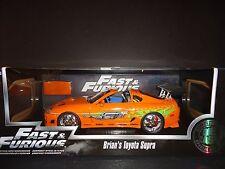 Jada Toyota Supra 1995 Orange Brian's Car Fast and Furious 1/18 97505