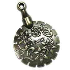 Clover Thread Cutter Pendant Antique Bronze