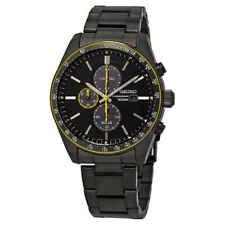 Seiko Ssc723 Solar Chronograph Black Dial Stainless Steel Men's Watch SSC723P1