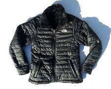 North Face Mossbud Coat Puffer Black Fleece Jacket Girls 10 / 12  Medium