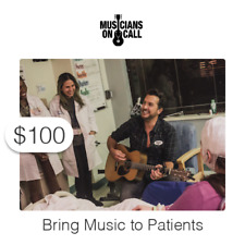 $100 Charitable Donation To Bring Music to Patients and Caregivers
