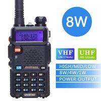 Baofeng UV-5R 8W Tri-power 8W/4W/1W Powerful Dual Band VHF UHF Two Way Radio