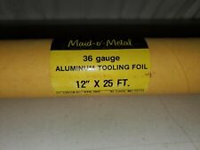 "maid-o'-metal Copper 38 Gauge Soft Aluminum Decorator Tooling Foil 12"" x 25'"