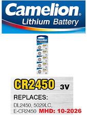 5 Stk CR2450 Knopfzellen Uhrenbatterien Knopf Zellen Lithium Camelion MHD 2026
