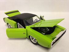 """1970 Dodge Charger R/T,  8.25""""  Diecast 1:24 Collectible, Jada Toys, Green"""