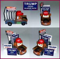 DISNEY PIXAR CARS CUSTOM TRUMP 2020 BILLBOARD MATER - DISNEY CARS 3 CUSTOM - NEW