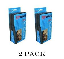 2 Pack Zipwall Standard Drywall Dust Barrier Zipper Set (4 total) AZ2 ZIP WALL