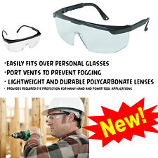 DIY SAFETY EYE GOGGLES GLASSES INDUSTRIAL PROTECTION FOG CLEAR VISION LENS COVER