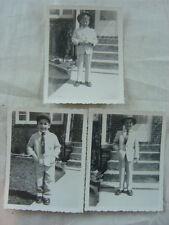 Vintage 1956 Photos Little Big Man Boys in Sunday Best 794