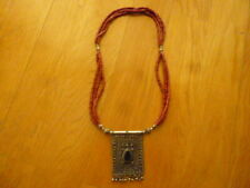 ANTIQUE JEWELRY BERBER ETHNIC TAZELAGT TRIBAL TRADITIONAL FOLK NECKLACE PENDANT