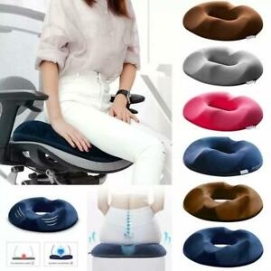 Coccyx Pain Relief Memory Foam Donut Ring Cushion Travel Seat Pillow Comfort US