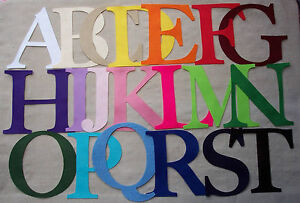 """FELT x1 - 4inch CAPITAL Letter(s)""""made to order"""" appliqués PERSONALISE alphabet"""
