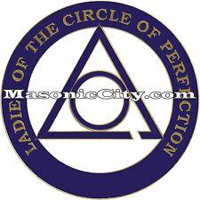 Z-97 Ladies of the Circle of Perfection Auto Emblem Temple Mason Masonic Car