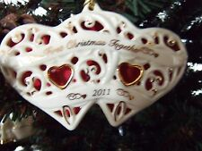 Lenox 2011 Together for Christmas Heart Ornament Brand New In Box 1st Quality
