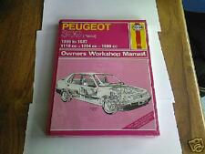 PEUGEOT 309 11/13/1600cc 1986/88' HAYNES WORKSHOP MANUAL NEW!!