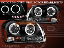 05-07 DODGE MAGNUM PROJECTOR HEADLIGHTS BLACK W/ LED CCFL TWIN HALO