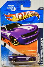 HOT WHEELS 2011 FASTER THAN EVER CAMARO CONVERTIBLE CONCEPT PURPLE