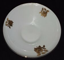 Edelstein Bavaria China - Gold Rose Pattern - Round Vegetable Serving Bowl 9 1/4