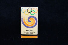 Olympia Olympic Games ARD/ZDF GERMAN TV Media PIN Seoul 1988