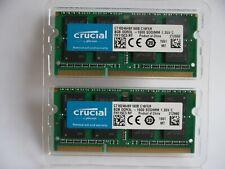 Crucial 16GB (2x8GB) DDR3L-1600 SODIMM Memory Kit 1.35V (CT102464BF160B.C16FER)