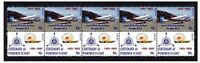 TAA AIRLINES CENTENARY OF FLIGHT STRIP OF 10 MINT VIGNETTE STAMPS, DOUGLAS DC-3