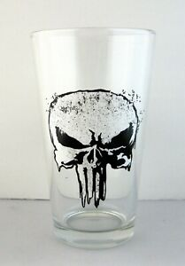 Brand New 16 oz Marvel's THE PUNISHER Pint Glass Marvel Comics Double Sided MCU